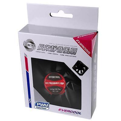 Evercool 4 Wire PWM Case Fan or CPU Fan 92mm x 25mm New EC9225HH12BP