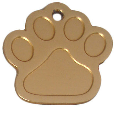 Dog Tags ID Engraved Personalised Name 27mm Paw Anodised Pet Cat Discs Disks 7
