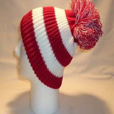 Luxury Fleece Lined Bobble Hat Beanie Mens Women Retro Football Winter Warm Pom 2