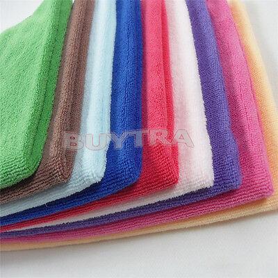 10x microfibre nettoyage chiffon serviette voiturier polissage qqqo* 3