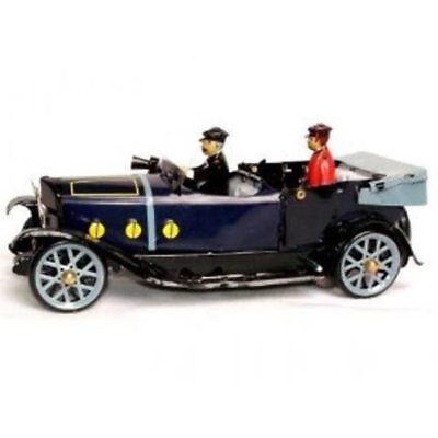 Blechspielzeug Blechauto mit schönen Details Modellauto nostalgie Oldtimer Cabrio türkis Deko
