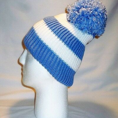 Luxury Fleece Lined Bobble Hat Beanie Mens Women Retro Football Winter Warm Pom 7