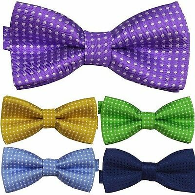 New Baby Toddler Boys Pre Tied Jacquard Weave Spotty Bow Tie Dickie Bow **UK** 4