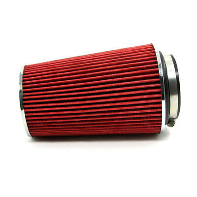 Universal Red 3/'/' Inlet Car Truck Long Ram Cold Air Intake Filter Cone KN Types
