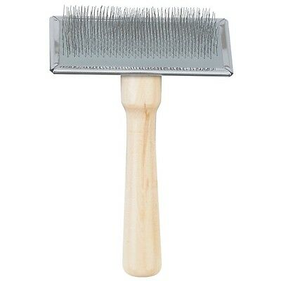 Ancol Ergo Dog Grooming Wooden Bristle Brush Double Sided Wood Handle Slicker 6