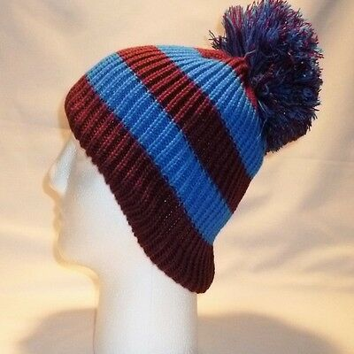 Luxury Bobble Hat Beanie Pom Childrens Boys Girls Kids Retro Football Winter 8