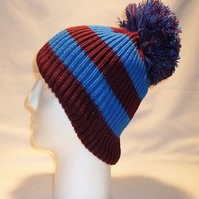 Luxury Fleece Lined Bobble Hat Beanie Mens Women Retro Football Winter Warm Pom 8