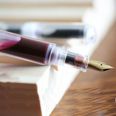 USA Moonman Wancai M2 Fountain Pen Mini Transparent Pattern Fine Nib 0.5mm