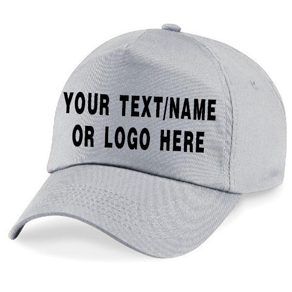 Personalised baseball caps Customised Adults unisex Printed Caps Hats Text/Logo 5