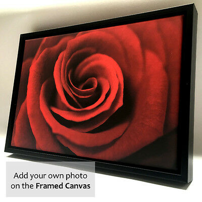 Personalised Photo on Canvas Print with Wooden Floating Frame A1 A2 A3 A4 6