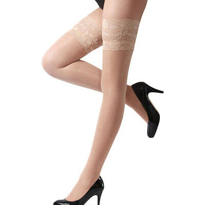 US SHIP Fashion Ladies Tights Stay Up Thigh High Stockings Lace Top Pantyhose 3