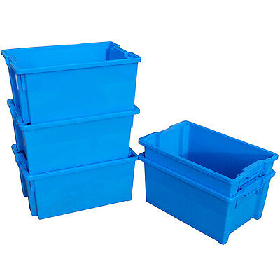 5 x 180º Plastic Stacking and Nesting Containers 50 Litre - Coloured 3