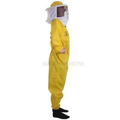 Beekeeping Yellow Round Veil Suit & Gloves-Buzz Basic- Choose Your Size