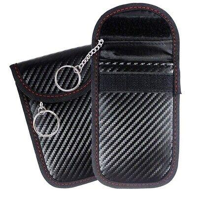 2 X Car Key Signal Blocker Case Faraday Cage Fob Pouch Keyless RFID Blocking Bag 4