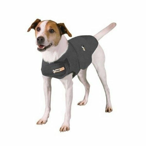Brand New XS Thundershirt for Dogs in solid gray  (8-14lbs)   # 1141 2