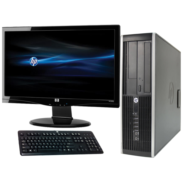 Full Dell/Hp Dual Core Sff Desktop Tower Pc & Tft Computer System Windows 10 3