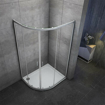 1000x800mm Quadrant Shower Enclosure and Stone Tray Corner Cubical Glass Left 6