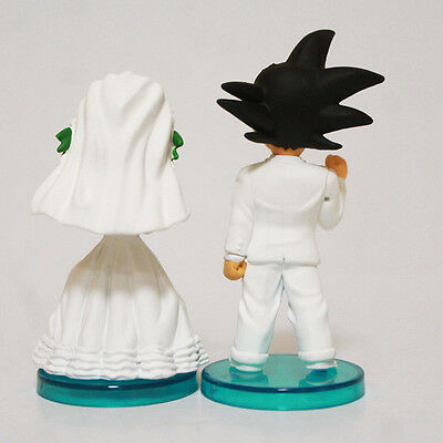 Dragon Ball Z Son Goku Chichi Bridal Scene Pvc Figure For Wedding Cake Topper