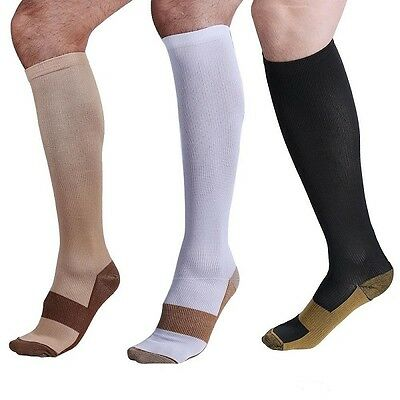 Copper Compression Socks 20-30mmHg Graduated Support Men's Women's S-XXL 3 Pairs 5
