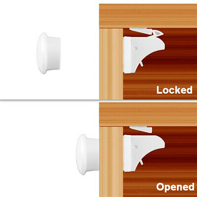 5/10pcs Baby Safety Magnetic Cabinet Locks Invisible Child Proof Cupboard Drawer 7