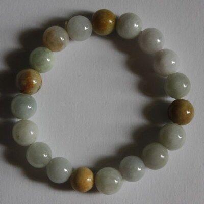 Gemstone 100% Natural Grade A JADE Jadeite Untreated Multi-Color Beads Bracelet 3