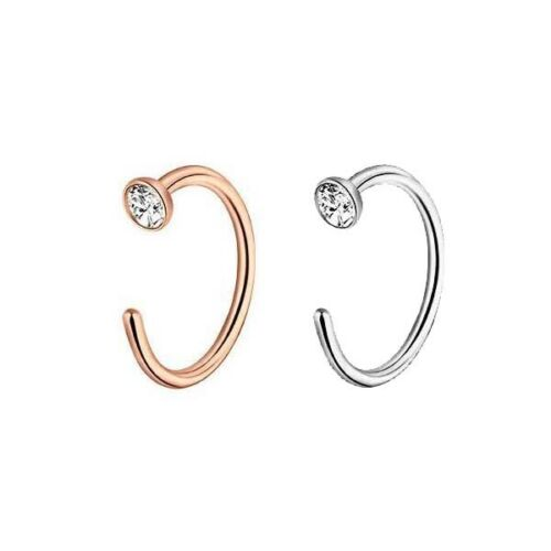 36pc Stainless Steel Nose Hoop Ring Ear Stud Cartilage Earring Piercings Jewelry 10