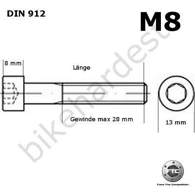 Titanschraube M7 x 25-125 zylindrisch DIN 912 Grade 5