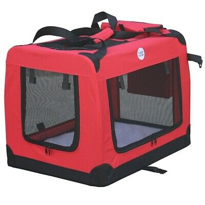 HugglePets Fabric Dog Crate Puppy Carrier - Cat Travel Cage Carry Pet Bag 4 Size 2