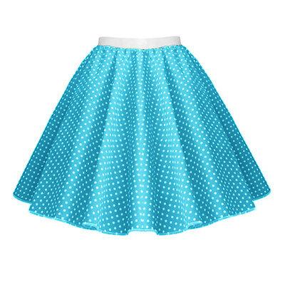 GIRLS CHILD 1950s Rock n Roll Polka Dot Dance Skirt Fancy Dress GREASE Costume 6