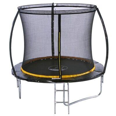 KANGA 8ft Premium Trampoline With Enclosure, Safety Net, Ladder & Anchor Kit 3