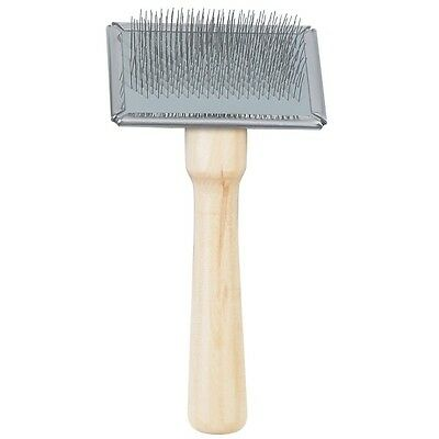 Ancol Ergo Dog Grooming Wooden Bristle Brush Double Sided Wood Handle Slicker 5
