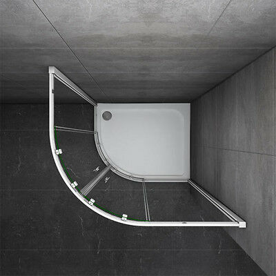 1000x800mm Quadrant Shower Enclosure and Stone Tray Corner Cubical Glass Left 7