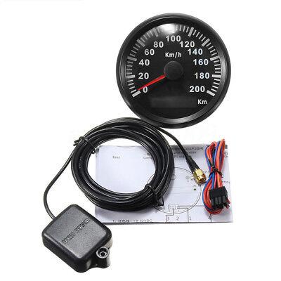85MM 200 KM/H Waterproof GPS Digital Speedometer Gauge Odometer Car Truck  Marine