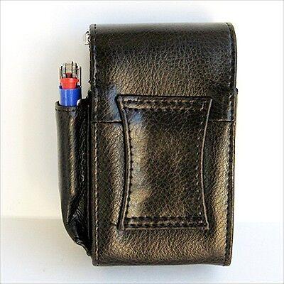 Black CIGARETTE HARD CASE Leather Lighter 100s Regular Holder USA Seller 7