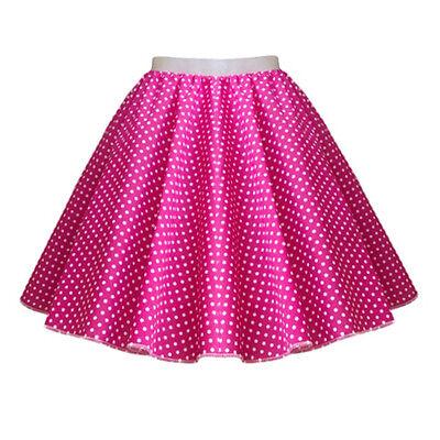 GIRLS CHILD 1950s Rock n Roll Polka Dot Dance Skirt Fancy Dress GREASE Costume 3