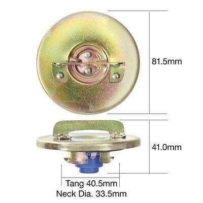 TRIDON TFL210 LOCKING FUEL CAP - NON VENTED CHROME FINISH PUSH IN