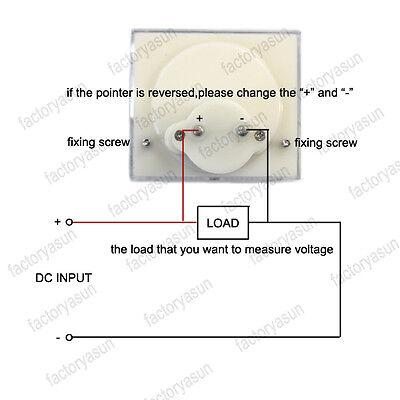 DC 500V Analog Panel Volt Voltage Meter Voltmeter Gauge 85C1 0-500V DC White 7