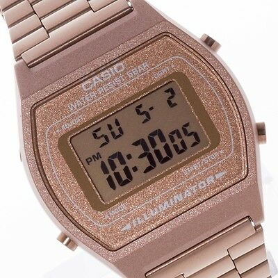 New Casio Vintage Rose Gold Digital Stainless Steel Watch B640WC-5ADF B640WC-5A 7