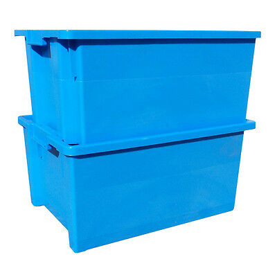 5 x 180º Plastic Stacking and Nesting Containers 50 Litre - Coloured 5