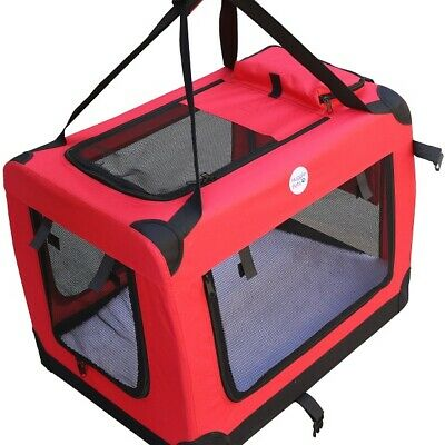 HugglePets Fabric Dog Crate Puppy Carrier - Cat Travel Cage Carry Pet Bag 4 Size 3