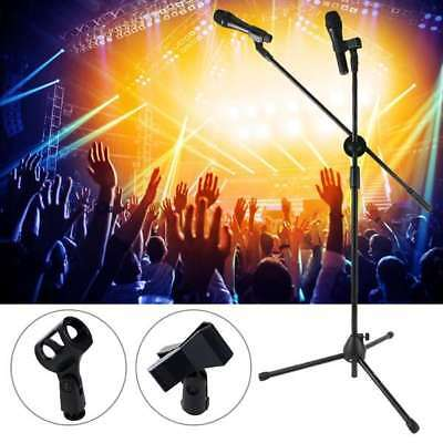 Professional Boom Microphone Mic Stand Holder Adjustable With 2 Free Clips New 4