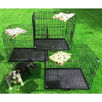 Small Medium Large XL XXL Pet Dog Cage Crate Foldable Carry Transport Carrier 5