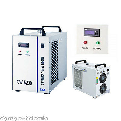 US 110V CW-5200DH Industrial Water Chiller for 8KW Spindle / Welder / Laser Tube