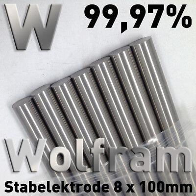 Refraktärmetalle Rund Stab 8 x 100 mm Element Probe Anode Elektrode 8