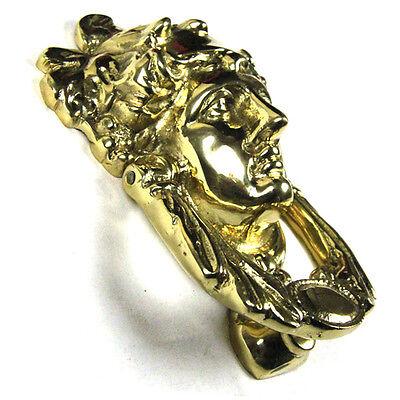 Traditional Antique Victorian Style Grecian Goddess Cast Brass Door Knocker 2