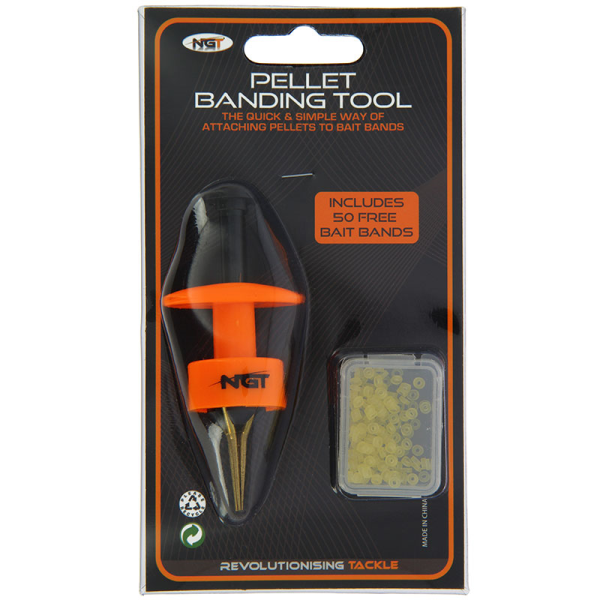 NGT Carp Fishing Tackle Pellet Bander Banding Tool Bait FREE CL 50 BandRe H6N1
