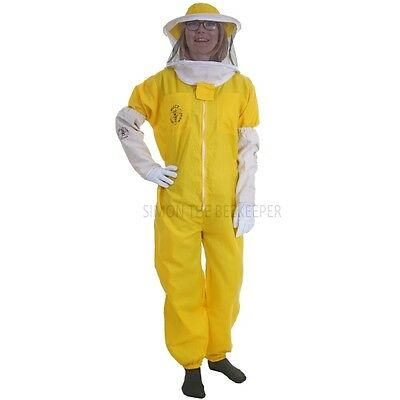 Buzz Basic Beekeepers Suit With Round Veil, Fencing Veil And Gloves - Yellow 3