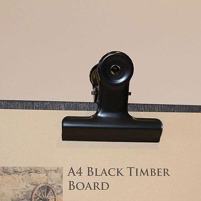 Set 15 x Slimline Narrow Black Timber Board with Bulldog Clip + free storage box 7