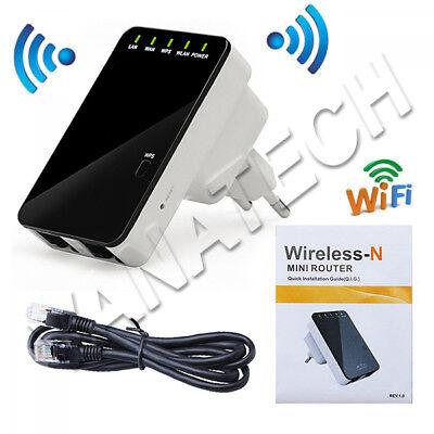 Ripetitore Segnale Wifi-N Hotspot Wireless Extender Amplificatore Estendi Wifi 2