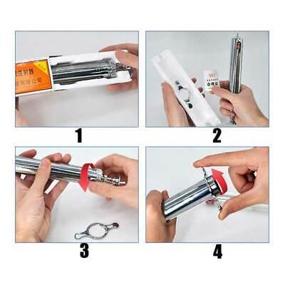 10ml/20ml/50ml Glassware Adjusted Lab Sampler Stainless steel Supplier Syringe 6
